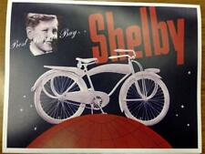 1940 Shelby Bicycle Co CATALOG copy of antique brochure high resolution!!!!