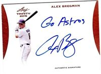 2015 Leaf Trinity Alex Bregman Autograph RC On Card AUTO Inscription GO ASTROS!