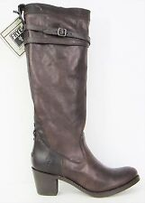 FRYE BOOTS Jane Strappy 76369 Dark Brown Leather Boots SZ 9.5 $468