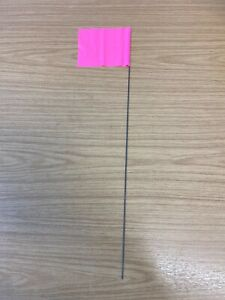 PINK - PLASTIC SURVEY MARKER FLAGS - PACK OF TEN - EXCELLENT QUALITY - TRIALS