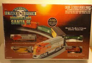 1998 BACHMANN E-Z TRACK SYSTEM HIGHBALLERS SANTA FE - N Gauge NIB Factory Sealed