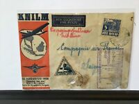 Netherlands Indies 1938 to Saigon KLILM Airmail stamps cover Ref R28127