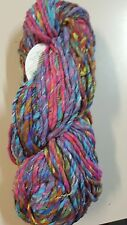 Noro Ginga #03 Blue Pink Yellow Rust Green 100g Cotton Silk Wool Mix