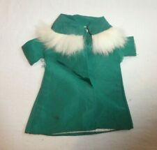 Vintage Ideal Tammy Doll or Clone Green Coat with Fur Trim