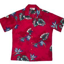 New listing Vintage Hilo Hattie Size L Pink Hawaiian Shirt Aloha Floral Birds Paradise Palm