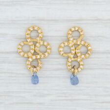 Reinstein Ross Arabesque Drops Sapphire Briolette Earring Enhancers 22k Gold