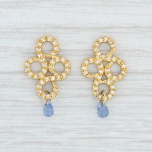 Reinstein Ross Arabesque Drops Sapphire Briolette Earring Enhancers 22k Gold