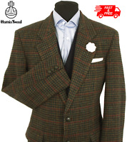 Harris Tweed Jacket Blazer 40R Dogtooth Country Windowpane Check Hacking Hunting