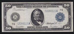 US 1914 $50 FRN Chicago District FR 1051 White/Mellon VF-XF (121)