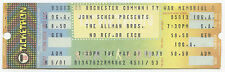 Allman Brothers Band 1979 Rochester Complete Unused Concert Ticket Allman Bros.
