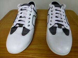 Versace collection cas white black grey mens trainers EU41 UK7.5 quality shoes