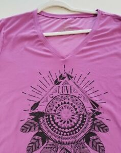 No Boundaries Women's Short Sleeve T Shirt Junior's XXL 19 Dream Catcher Arrow