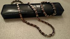 Men's Stainless Chocolate and Stainless Necklace and Bracelet set