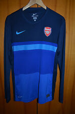 ARSENAL LONDON TRAINING FOOTBALL JERSEY JACKET TOP ENGLAND NIKE LONG SLEEVE