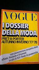 VOGUE Italy 1977 88 Dossier AUTUNNO INVERNO Pret a Porter + pelz furs pellicce