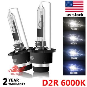 2x 6000K White D2R D2C HID Xenon Bulbs Factory Replacement OEM Headlight Kit US