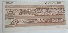 VINTAGE 1954 Craftaid LEATHER TAPERED BELT Template #2671 Acorns, Oak leaf, NOS
