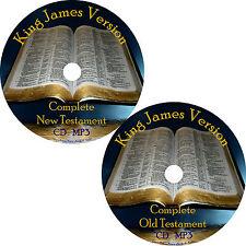 KJV Audio Bible, Complete King James Version 66 Books on 2 MP3 CDs Free Ship