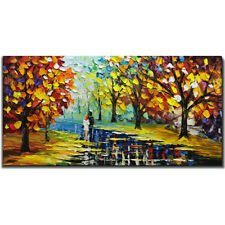 Wall art Hand Painted Landscape 3D ART Oil painting on canvas unframed 24x48inch