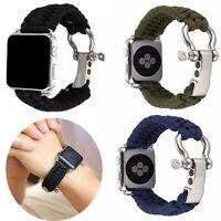Nylon Watchband Strap for Apple Watch Series 4 3 2 1 Outdoor Lifesaving strap