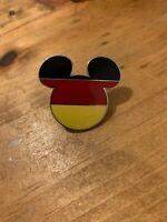 Country Flag Icon Disney Pin - Mickey Head & Ears (Germany)
