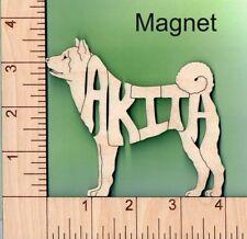 Akita Dog laser cut wood Magnet Great Gift Idea