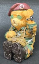 Decorative Porcelain Military Red Beret Teddy Bear
