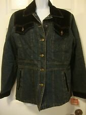 NWT Women's ESPRIT lined denim jean jacket coat, sz M