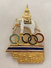 Thailand NOC Olympic Team PIN - Los Angeles 1984 - with Elephant