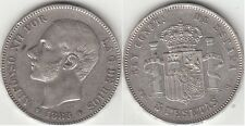 Monnaie 5 PESETAS argent 1885