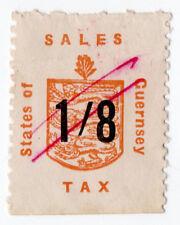 (I.B) Guernsey Revenue : Sales Tax 1/8d (German Occupation)
