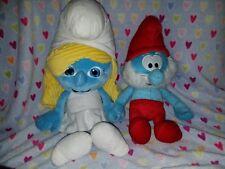 """SMURFETTE Jumbo 21"""" Plush- Jakks 2011 Pacific & Papa Smurf"""