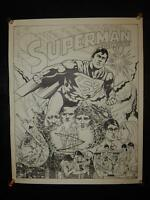 Vintage Chapin Creations poster SUPERMAN The MOVIE DC Comics 1978