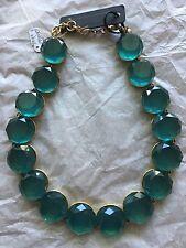 J. Crew Circular Stone Necklace (Teal)