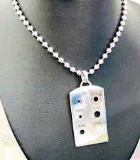diamond TCW 0.26 gold 14k white dog tag size measure pendant necklace ball chain