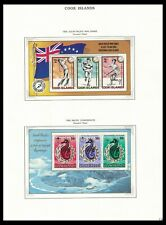 COOK ISLANDS 1985 ISSUES ON 3 PAGES (LHM/MNH) *CLEAN & FRESH*
