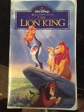 The Lion King Walt Disney Masterpiece Collection VHS