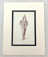 1889 Antico Stampa The Merry Wives Di Windsor Robin Pagina Boy Falstaff Costume