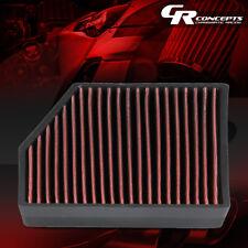 RED HI-FLOW PANEL CABIN AIR FILTER FOR 05-18 VW JETTA/GTI/PASSAT AUDI A3/Q3/TT
