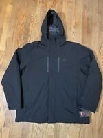 NWT Gerry Mens Insulated Hooded Coat Jacket Black Size XXL
