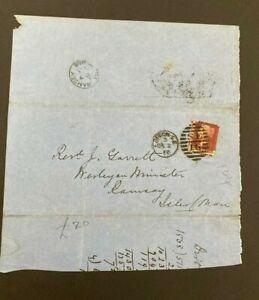 Postal History GB QV 1872 Ramsey IOM CDS Parish Return 1d Red Plate144 Cat £25