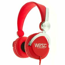 Wesc audio Bass Red cuffie rosse PROFESSIONALI PER DJ IPHONE ANDROID PC MAC new
