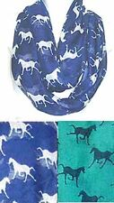 HORSE Print iNFINITY Scarf - Lot of 12 (6 each of 2 colors)