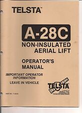 Telsta Bucket A-28C Service and Repair Manual Download link Only, No hard Copy