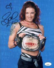 Amy Dumas LITA Signed 8x10 Photo WWE WWF Wrestling Autograph JSA COA Cert