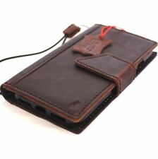 genuine real leather Case for apple iphone 7 book wallet magnetic luxury strap