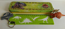 Jurassic Park, Jurassic World, The Lost World pencil case and promo keyring set