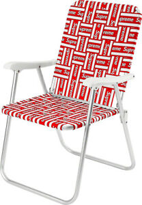 Supreme Lawn Chair Red/White SS20 New