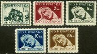Croatia-1944. Assistance to victims of war. Full set. MNH