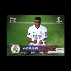 Vinicius Junior Real Madrid C.F. 4/7/21 UCL Topps Now Card #59 UEFA Champions
